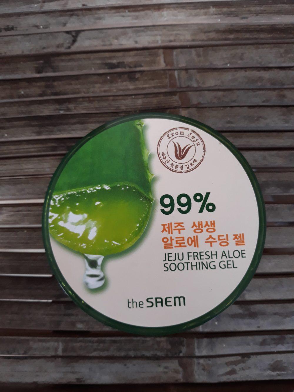 Review The Saem Jeju Fresh Aloe Soothing Gel Ahalona Shooting Tampak Depan